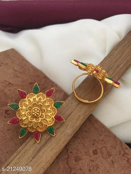 copper  gold plated ring for women and girl(1 piese)