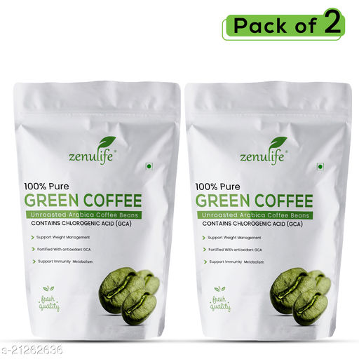 Zenulife Green Coffee Beans 250g Pack of 2