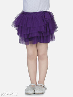 Tutu skirt with attached cotton blend shorts