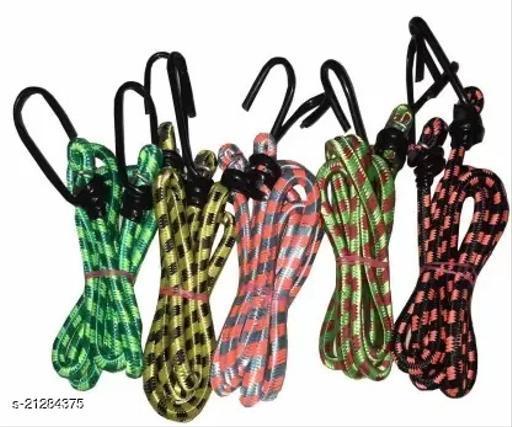 Multipurpose Ultra Strong & Flexible Bungee Rope/Bike Luggage Rope Pack of 5 Multicolor(Length: 1.5 m, Diameter: 10 mm)