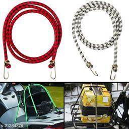 Multipurpose Ultra Strong & Flexible Bungee Rope/Bike Luggage Rope Pack of 2 Multicolor(Length: 1.5 m, Diameter: 10 mm)