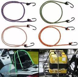 Multipurpose Ultra Strong & Flexible Bungee Rope/Bike Luggage Rope Pack of 4 Multicolor(Length: 1.5 m, Diameter: 10 mm)