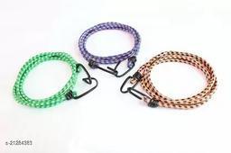Multipurpose Ultra Strong & Flexible Bungee Rope/Bike Luggage Rope Pack of 3 Multicolor(Length: 1.5 m, Diameter: 10 mm)