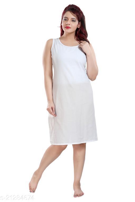 QUEEN SHIELD Cotton Rich Camisole Slip for Women | Long Kurti Slip/Suit Slip/Camisole Slip Knee Length Inner(Long Inner)