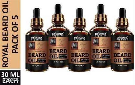 Park Daniel Red Onion Beard Growth Oil- For Beard Growth, Style & Shine Combo pack of 5 bottles of 30 ml(150 ml) Hair Oil (150 ml)
