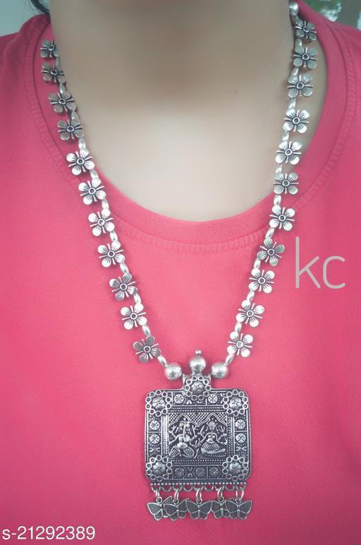 German Silver Pendant Necklace