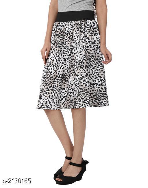 Stylish Crepe Printed Women's Skirt