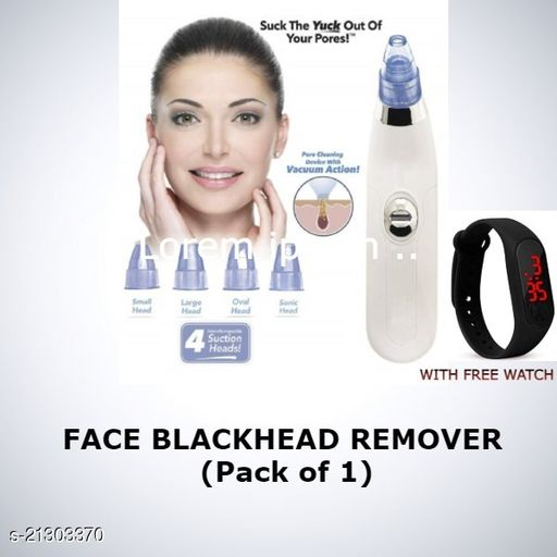 Derma Suction Facial Pore Cleanser - Blackhead Whitehead Remover Vacuum Suction Machine for Women with black watch.
