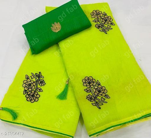 exclusive kora silk embroidery work saree