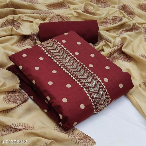 Sidhdhnath Fashion Women  Slub Cotton fabric Suit