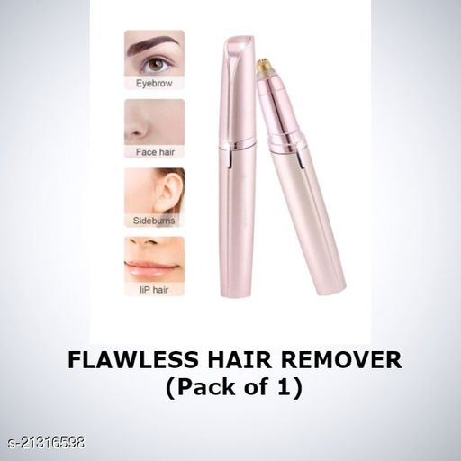 Flawless Painless Electric Hair Removal Shaver With Battery Hair Remover Machine for Upper Lip, Chin, Eyebrow  for Women.