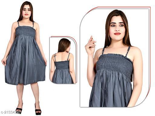 TIARA WORLD SLEVEELESS STYLISH DRESS