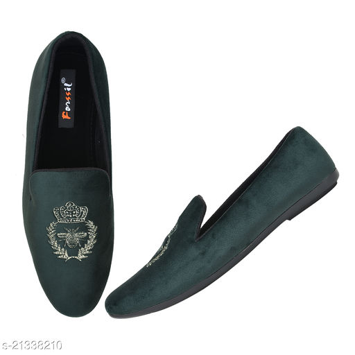 FORSSIL Velvet Embroidered Casual Formal  Loafers Shoes for Mens and Boys (FSL-2134)