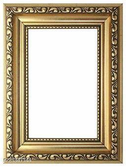 Sharma Framing House Designer Photo Frame with Mount Glass and Handboard (Golden)