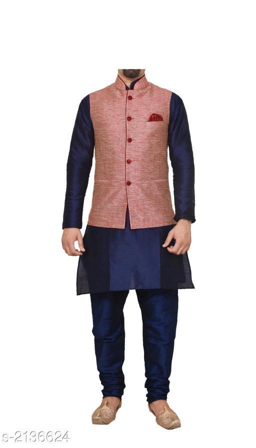 Elegant Banarasi Dupion Silk Men's Kurta Set