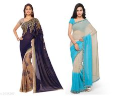 Attractive Women's Sarees( Pack Of 2)