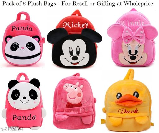 Pack of 6 Plush Bags at wholesell price for Resell or Gifting