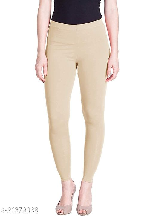 Ultra Soft Cotton Churidar Solid Regular Size Legging for Womens and Girls - Fits All, Color- skin