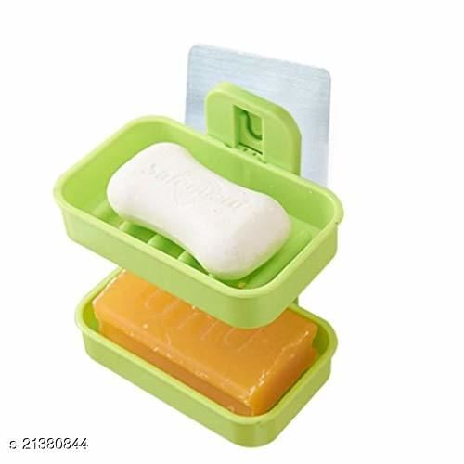 Soap Holder Waterproof Plastic Magic Sticker Box Self Adhesive Traceless Kitchen Soap Holder | Bathroom Stand (Multicolor)
