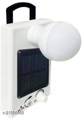 Stark Creations MICRO 12 LED Solar Bulb With Charge Rechargeable Lantern Emergency Light  (White) - 40 Watt - 5000Mah Battery
