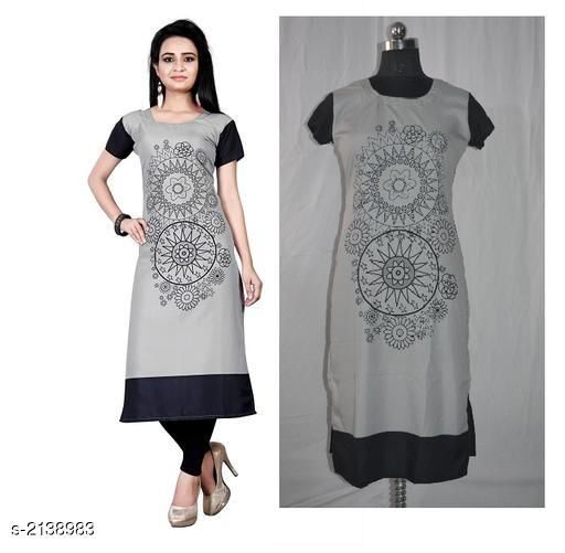 Kurtis & Kurtas Party Wear American Crepe Digital Printed Kurti  *Fabric* American Crepe  *Sleeves* Sleeve Are Included  *Size* M - 38 in, L - 40 in, XL - 42 in, XXL - 44 in  *Length* Up To 44 in  *Type* Stitched  *Description* It Has 1 Piece Of Women's Kurti  *Work * Printed  *Sizes Available* M, L, XL, XXL *    Catalog Name: Jivika Party Wear American Crepe Digital Printed Kurtis Vol 5 CatalogID_283637 C74-SC1001 Code: 782-2138983-