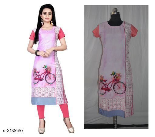 Kurtis & Kurtas Party Wear American Crepe Digital Printed Kurti  *Fabric* American Crepe  *Sleeves* Sleeve Are Included  *Size* M - 38 in, L - 40 in, XL - 42 in, XXL - 44 in  *Length* Up To 44 in  *Type* Stitched  *Description* It Has 1 Piece Of Women's Kurti  *Work * Printed  *Sizes Available* M, L, XL, XXL *    Catalog Name: Jivika Party Wear American Crepe Digital Printed Kurtis Vol 5 CatalogID_283637 C74-SC1001 Code: 782-2138987-