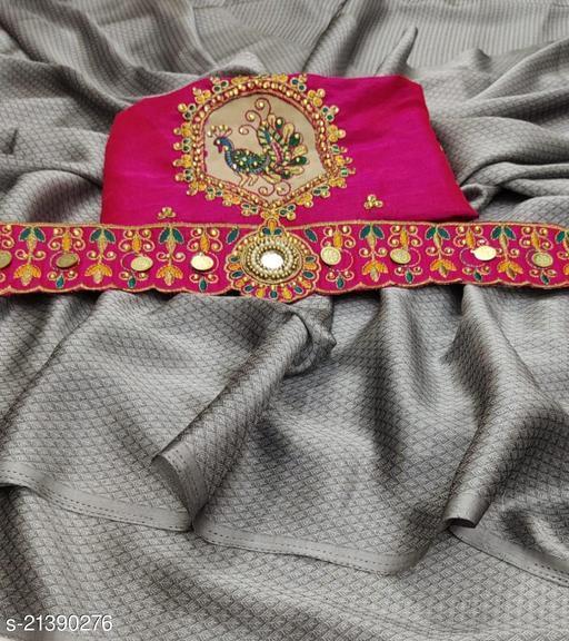 vedika Chiffon Handwork Belt Saree