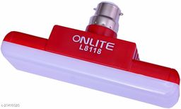 Gallery Hub Onlite L8118 100w Extra Bright White Rechargeable Emergency Light Bulb CFL Led Tube Bulb Torch .Night Home and Commercial use Bulb Emergency Light (Red) - 100 Watt - 5000Mah Battery