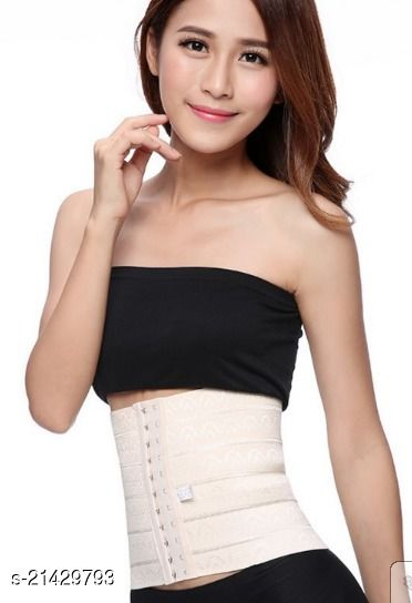 Tummy Grip Belt Waist Trainer Trimmer and Slimming Corset 3 Hooks Girdle with Wire Support Shapewear