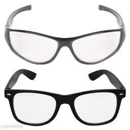 Criba_Sports White & Rectangular White_Sunglasses_Pack of 2
