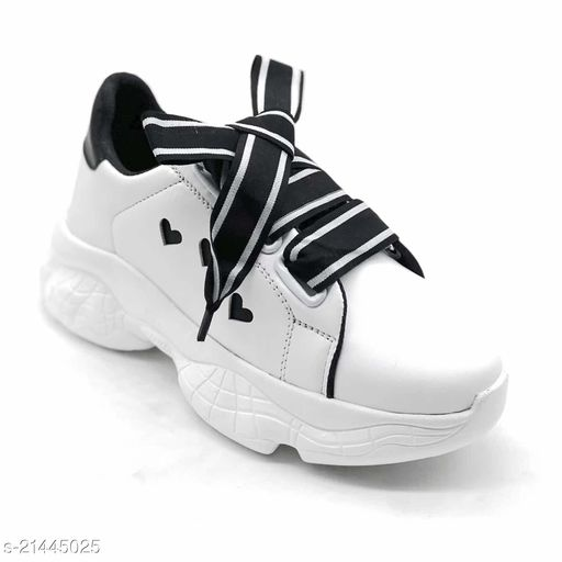Stylish Women's White Casual Shoes