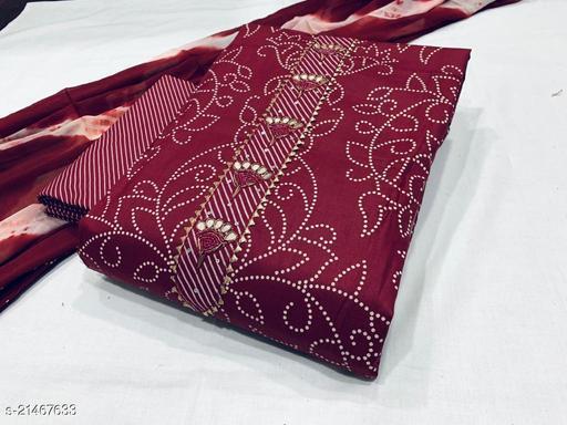 Trendy Cotton Sensational Salwar Suits & Dress Materials