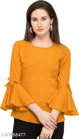 Solid Rayon Casual Top For Women