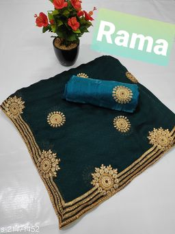 Latest Design Heavy Diamnod Badla Jari C Pallu with Blouse Piece