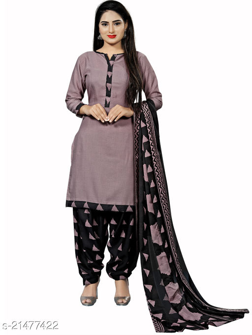 Fab Kudi Dusty Pink Cotton Printed Unstitched Salwar Suit Material