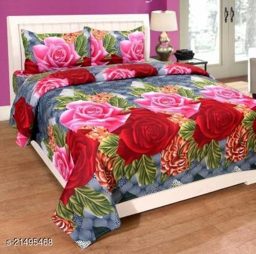 VIRAT ENTERPRISES  240 TC Poly Cotton Double Printed Bedsheet (90X90) Inches