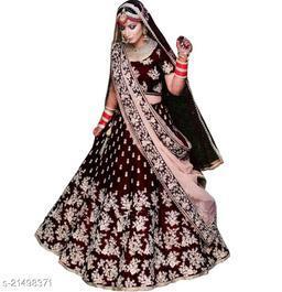 Bridal Designer Women's Maroon Heavy Tappeta Satin Semi Stitched Lehenga Choli (JANZAR-MAROON-LEHENGA_Heavy Tappeta Satin_Maroon)