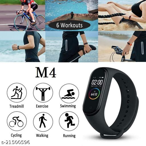 M4 Smart Band With Scratch poof Lamination Fitness Tracker Band