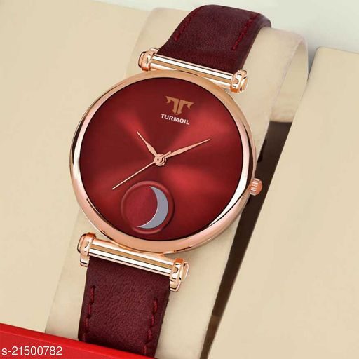 Tmeter R-101 Maroon Moon Stylish Girls Watch Designer Womens Analog Watch