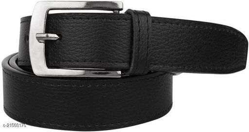 Winsome Deal Black Artificial Leather One Size Formal Belts for Mens