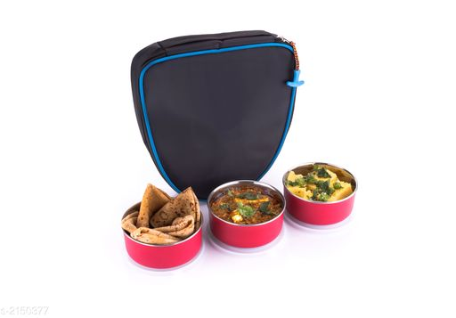 Lunch Box With Bag ( Pack Of 4 )