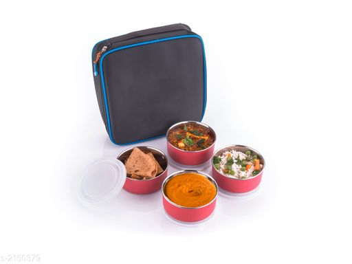 Lunch Box With Bag ( Pack Of 5 )