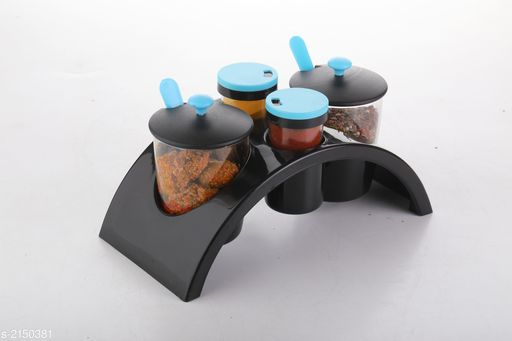 Pickle & Spice Container With Stand ( Pack Of 4 ).