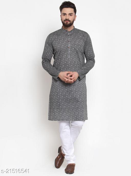Jompers Men's Cotton Printed Kurta Payjama Set