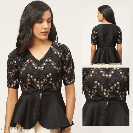 Latest 2021 Embroidered Free Size Ready Made Blouse
