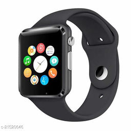 Goosprey A1 Bluetooth Smartwatch Black Compatible with Android and IOS Mobiles