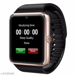 Goosprey Gt08 Bluetooth Smartwatch Golden Compatible with Android and IOS Mobiles