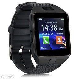 Goosprey Dz09 Bluetooth Smartwatch Black Compatible with Android and IOS Mobiles