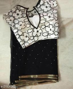 Trendy Black Beauty stone Designer blouse saree