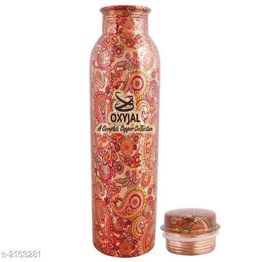 Useful Pure Copper Metallic Finish Water Bottle